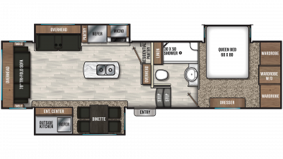 2020 Chaparral 298RLS Floor Plan Img