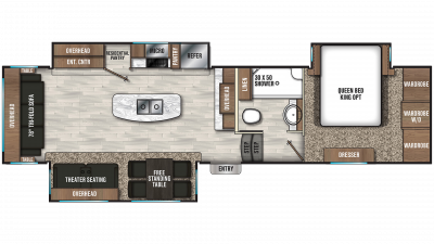 2020 Chaparral 336TSIK Floor Plan Img