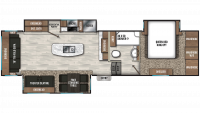 2020 Chaparral 336TSIK Floor Plan
