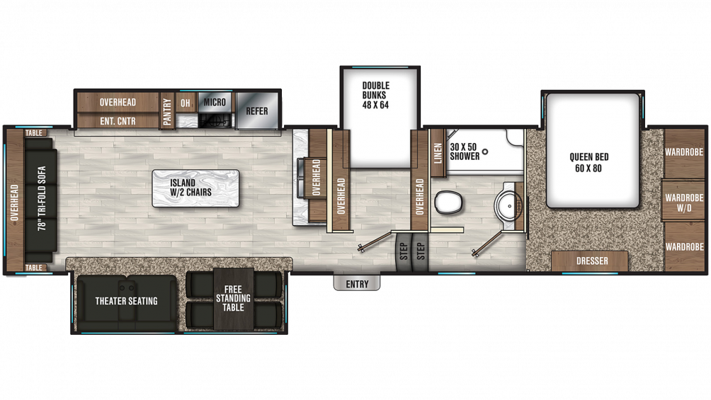 2020 Chaparral 360IBL Floor Plan Img