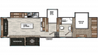 2020 Chaparral 360IBL Floor Plan