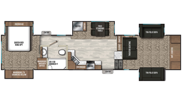 2020 Chaparral 370FL Floor Plan
