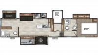 2020 Chaparral 373MBRB Floor Plan