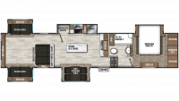 2020 Chaparral 381RD Floor Plan