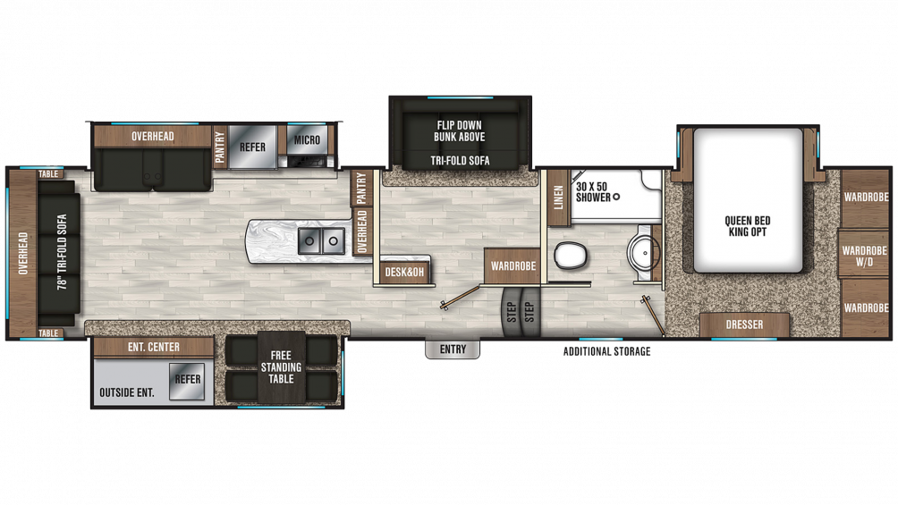 2020 Chaparral 391QSMB Floor Plan Img