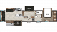 2020 Chaparral 391QSMB Floor Plan