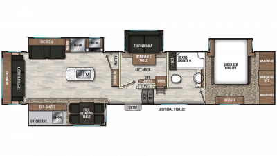 2020 Chaparral 392MBL Floor Plan Img