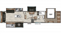 2020 Chaparral 392MBL Floor Plan
