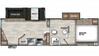 2020 Chaparral Lite 25MKS Floor Plan