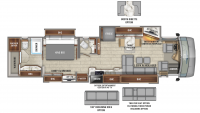 2020 Cornerstone 45B Floor Plan