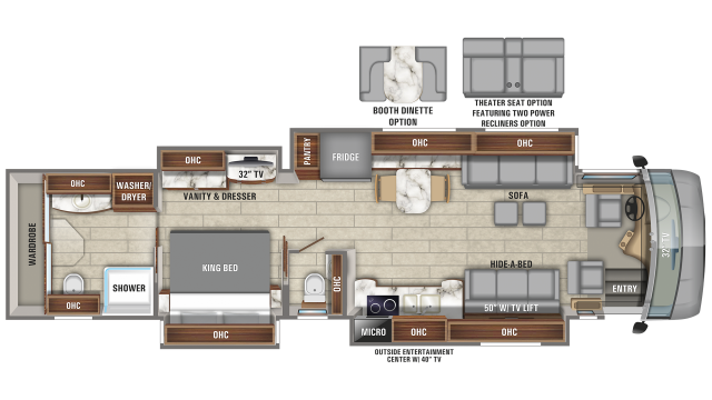 2020 Cornerstone 45W Floor Plan