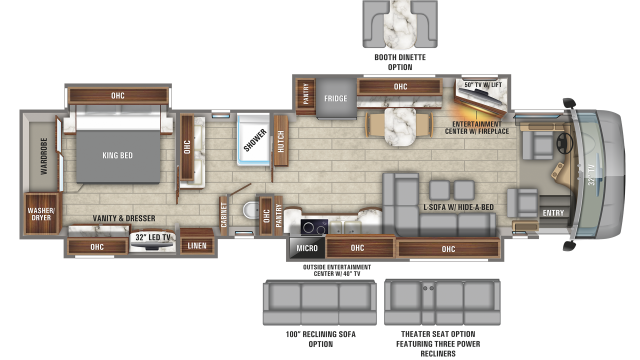2020 Cornerstone 45Y Floor Plan