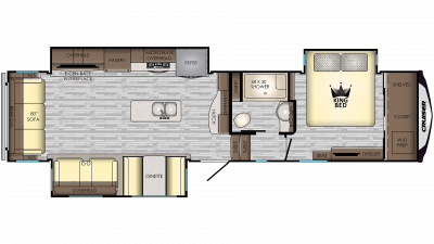 2020 Cruiser 3391RL Floor Plan Img