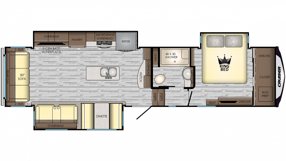 2020 Cruiser 339RL Floor Plan Img