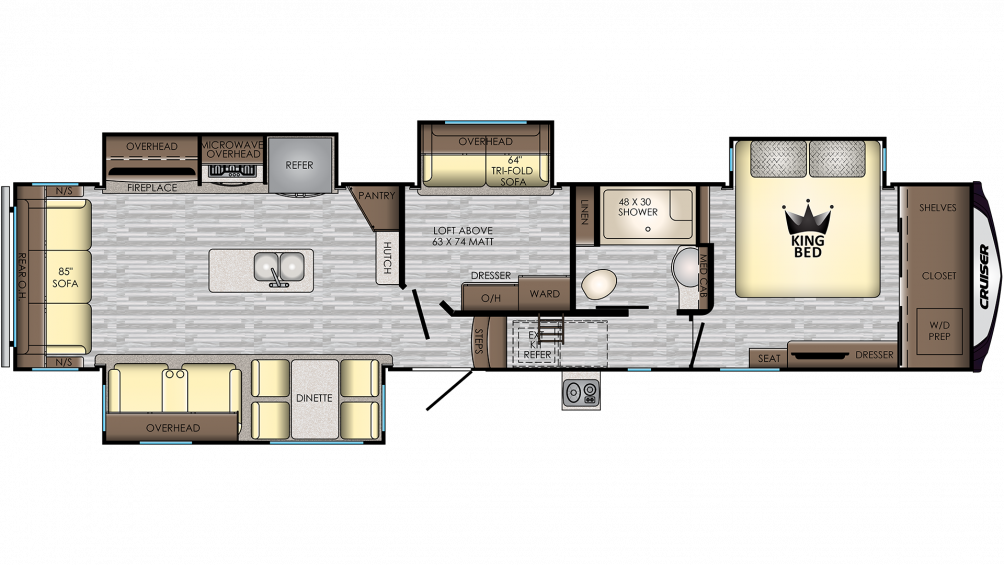 2020 Cruiser 377MD Floor Plan Img