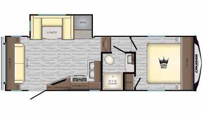 2020 Cruiser Aire 24RL Floor Plan Img