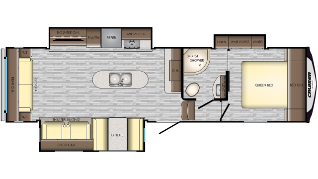 2020 Cruiser Aire 29SI Floor Plan