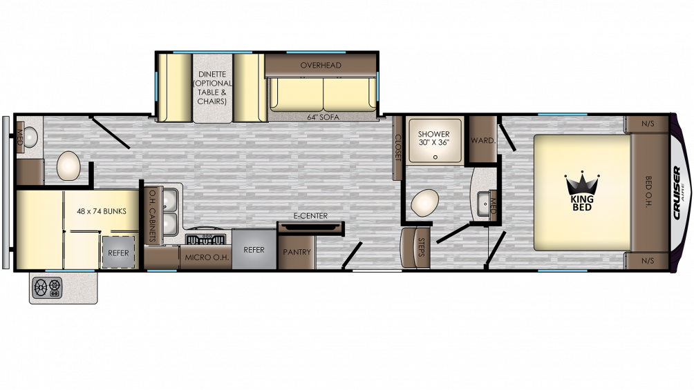 2020 Cruiser Aire 30BH Floor Plan Img