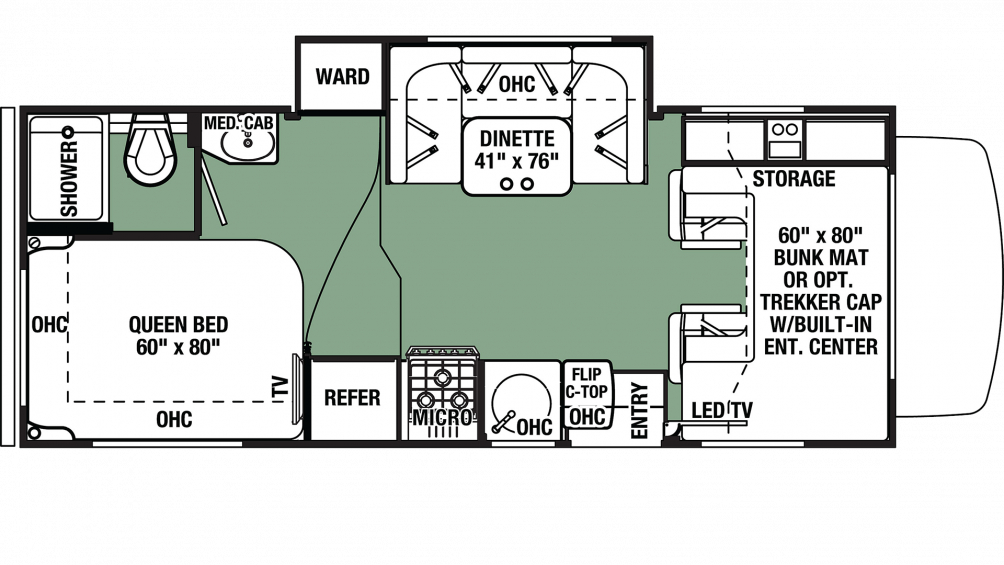 2020 Forester 2291S CHEVY Floor Plan Img