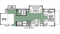 2020 Forester 2501TS CHEVY Floor Plan