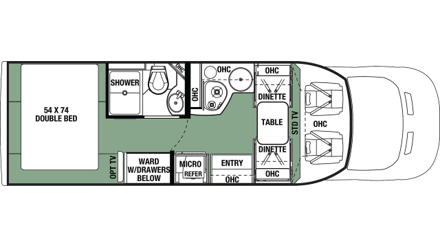2020 Forester TS 2381D Floor Plan