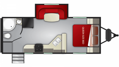 2020 Fun Finder Xtreme Lite 21RB Floor Plan Img