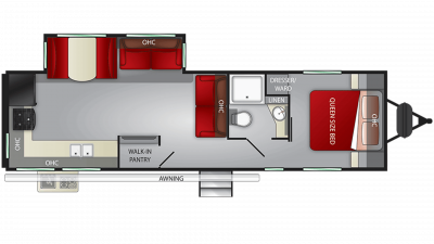 2020 Fun Finder Xtreme Lite 29KR Floor Plan Img