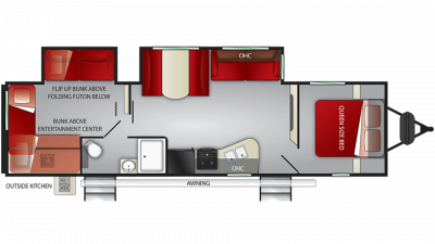 2020 Fun Finder Xtreme Lite 32BS Floor Plan Img