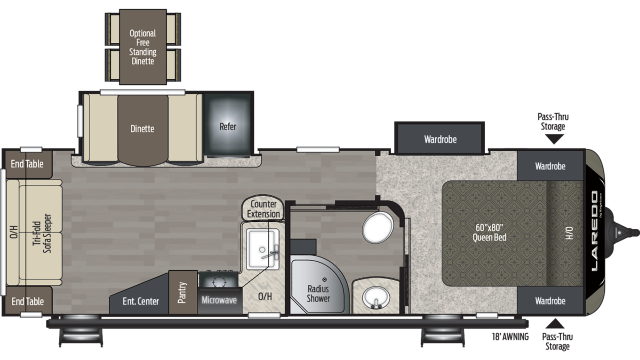 2020 Laredo 275RL Floor Plan