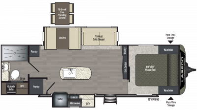 2020 Laredo 280RB Floor Plan Img