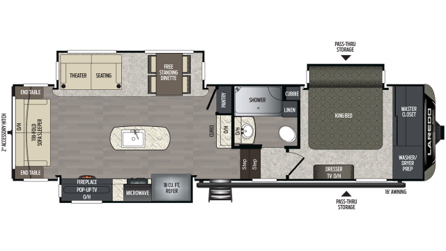 2020 Laredo 310RS Floor Plan