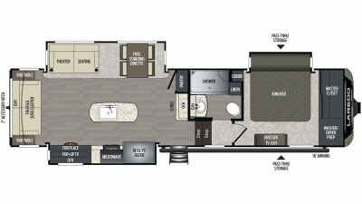 2020 Laredo 310RS Floor Plan Img