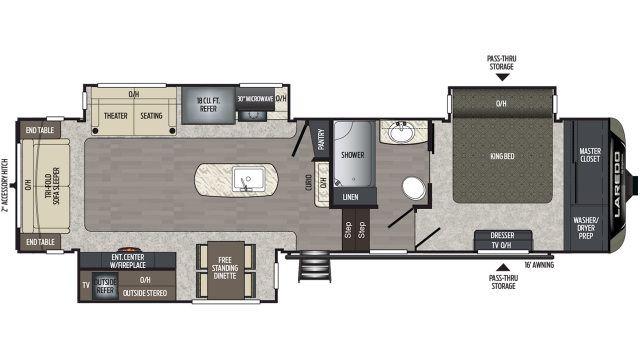 2020 Laredo 325RL Floor Plan