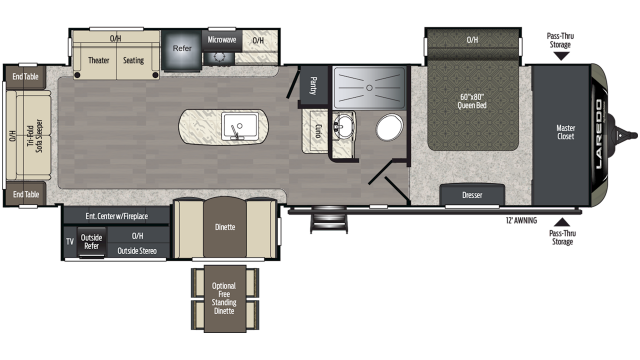 2020 Laredo 330RL Floor Plan