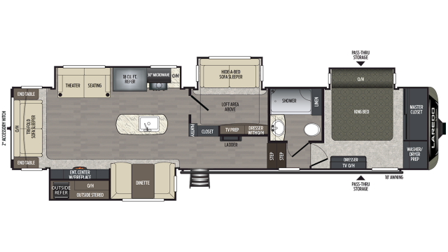 2020 Laredo 380MB Floor Plan