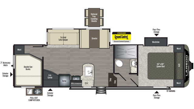 2020 Laredo Super Lite 285SBH Floor Plan