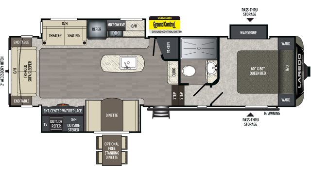 2020 Laredo Super Lite 298SRL Floor Plan