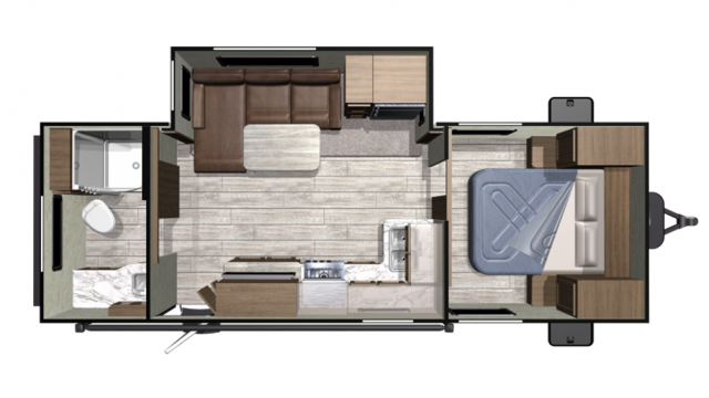 2020 Mesa Ridge Conventional 21RBS Floor Plan