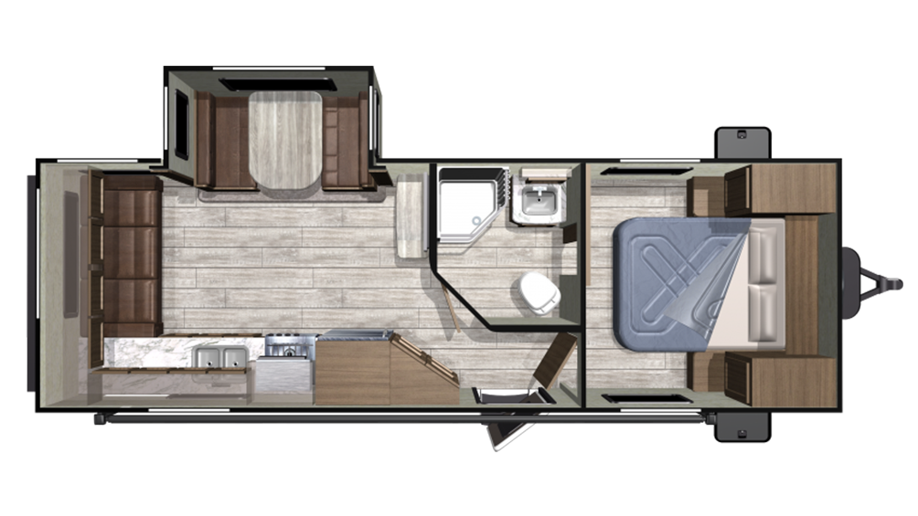 2020 Mesa Ridge Conventional 23RLS Floor Plan Img