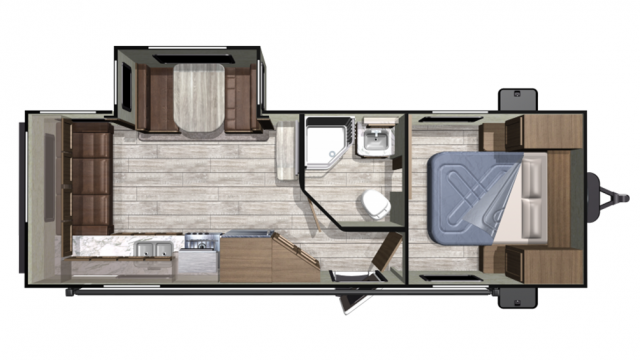 2020 Mesa Ridge Conventional 23RLS Floor Plan