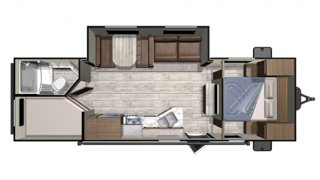 2020 Mesa Ridge Conventional 26BHS Floor Plan