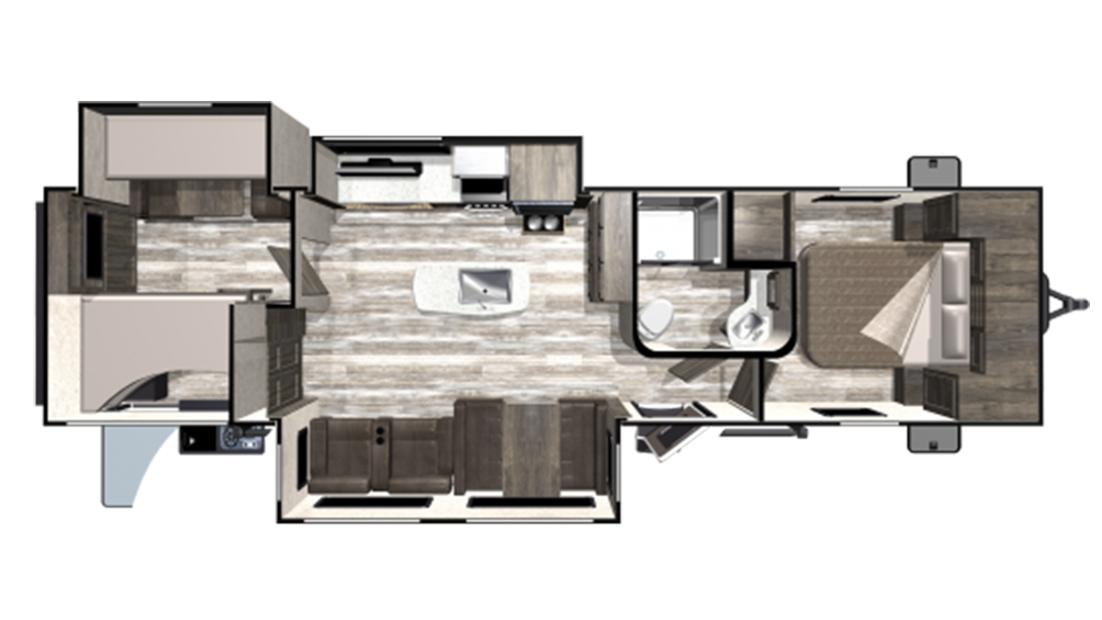 2020 Mesa Ridge Limited MR312BHS Floor Plan Img