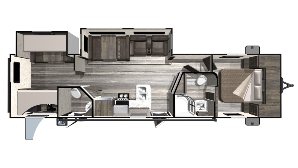 2020 Mesa Ridge Lite MR3310BH Floor Plan Img