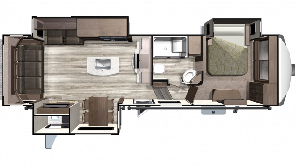 2020 Mesa Ridge MF284RLS Floor Plan Img