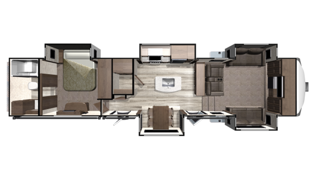 2020 Mesa Ridge MF370RBS Floor Plan Img