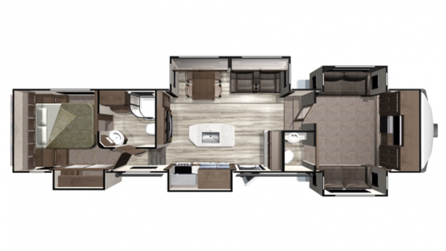 2020 Mesa Ridge MF376FBH Floor Plan
