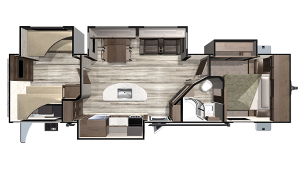 2020 Mesa Ridge MR310BHS Floor Plan Img