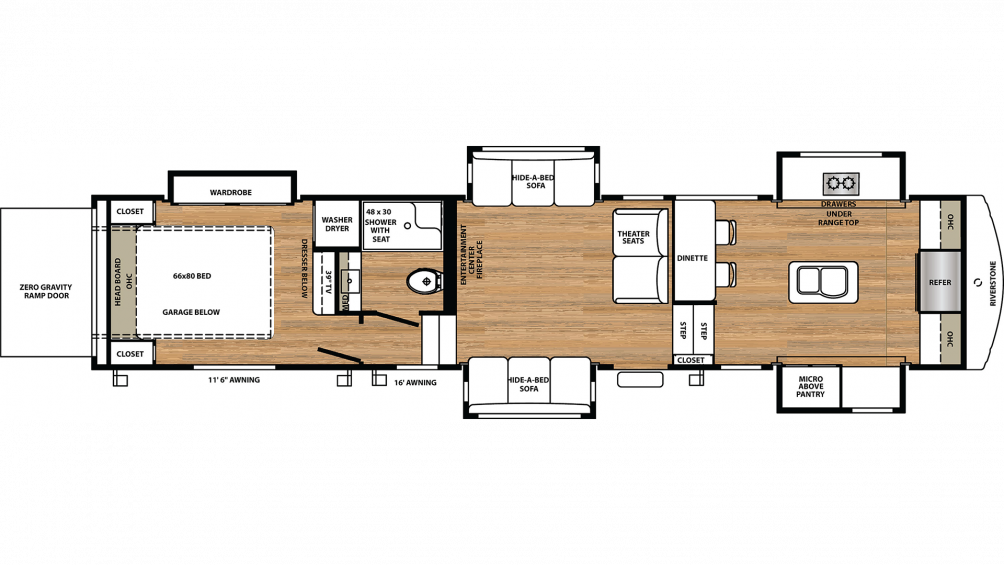 2020 RiverStone 39FKTH Floor Plan Img