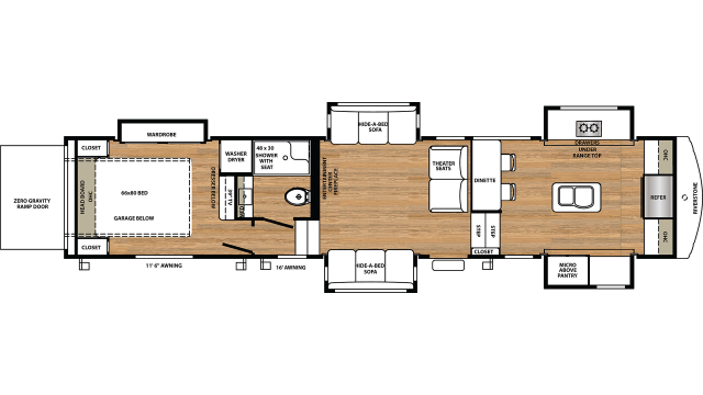 2020 RiverStone 39FKTH Floor Plan