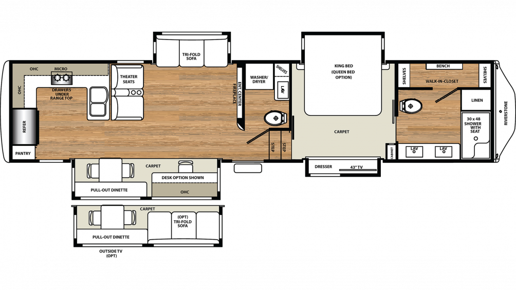 2020 RiverStone 39RKFB Floor Plan Img